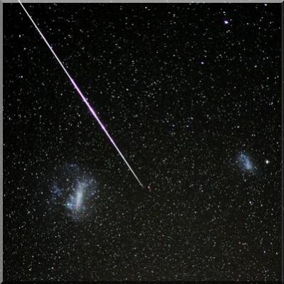 Meteorito visto en Sudáfrica