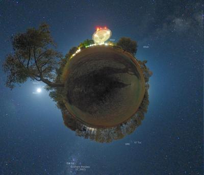 El asteroide de El Principito, fotoarte